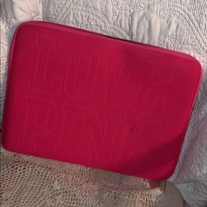 Pink laptop case